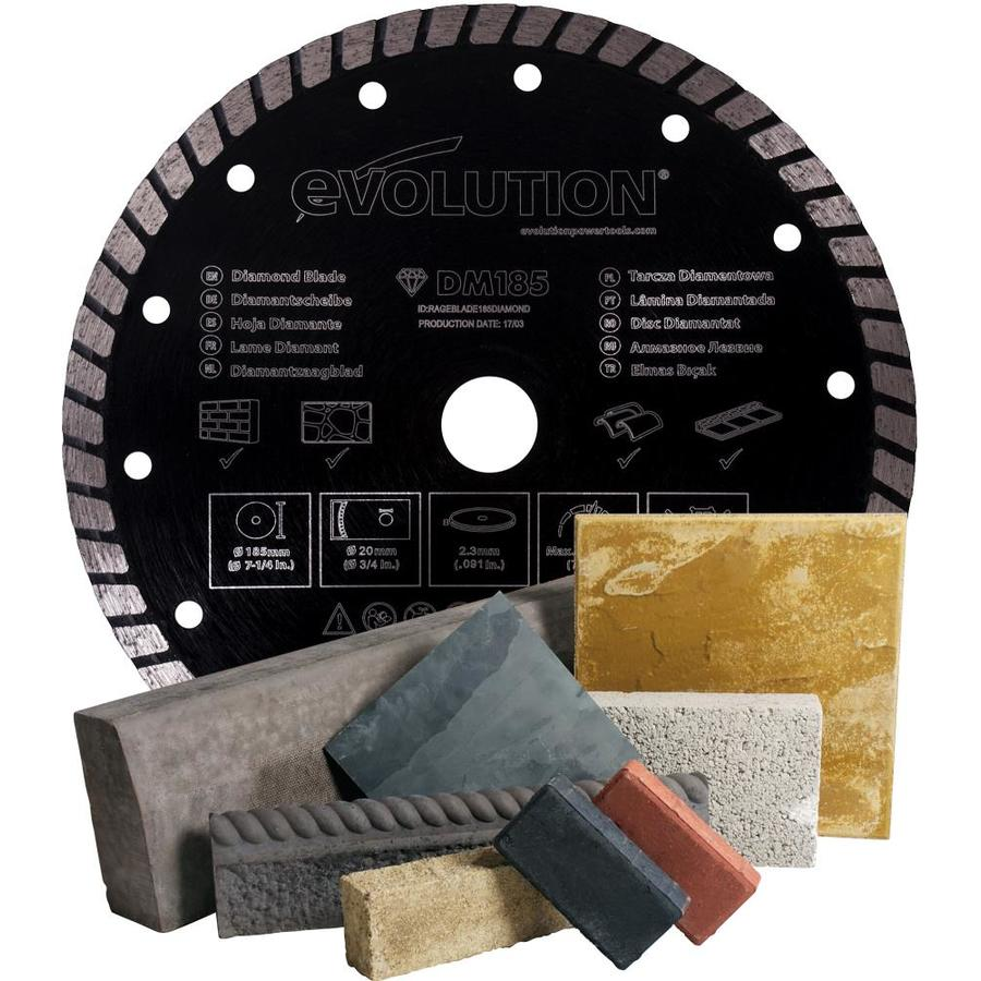 Evolution 7-1/4-in Wet or Dry Continuous Diamond Circular Saw Blade