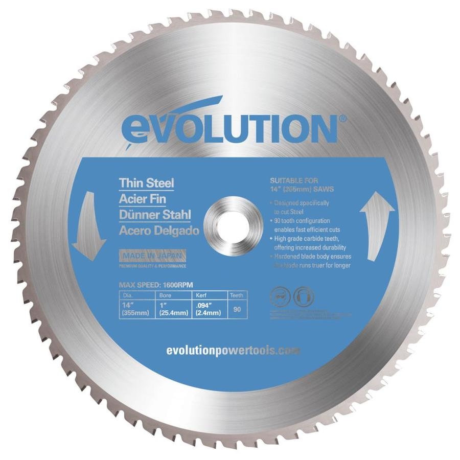 Evolution 14-in 90-Tooth Standard Tungsten Carbide-Tipped Steel Circular Saw Blade