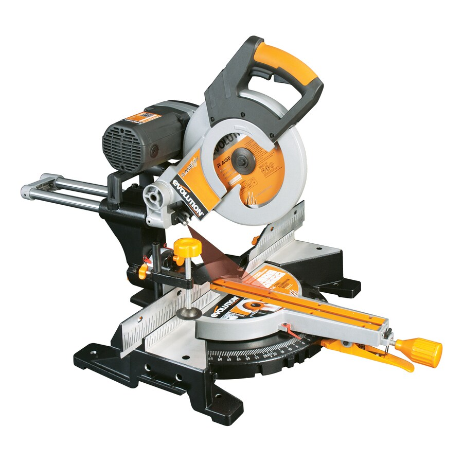 Evolution 10-in 15-Amp Bevel Slide Laser Compound Miter Saw