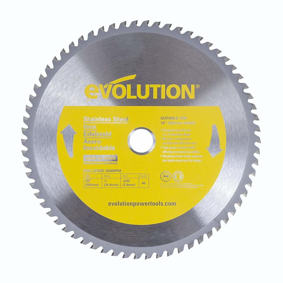 Evolution 10 In 66 Tooth Tungsten Carbide Tipped Steel Miter Saw Blade In The Circular Saw Blades Department At Lowes Com