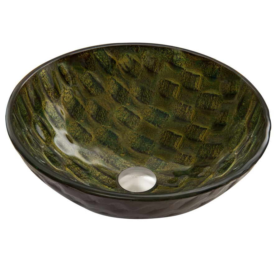Vessel Sinks Lowes : Shop VIGO Amazonia Glass Vessel Round Bathroom Sink at Lowes.com