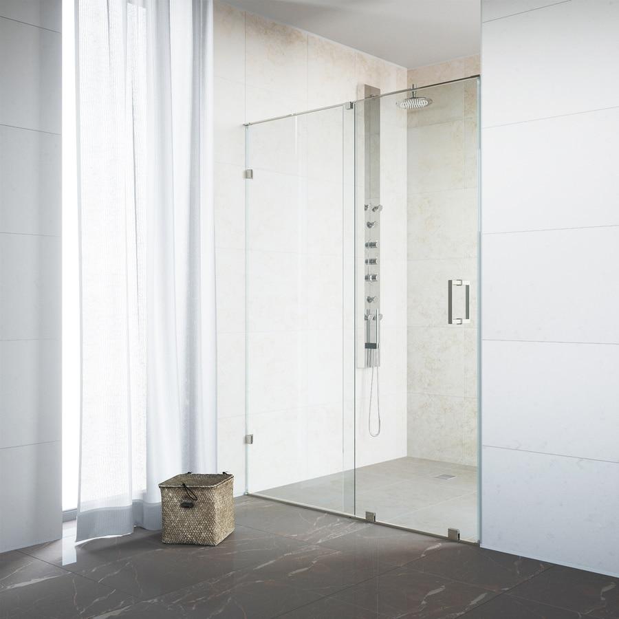 VIGO Ryland 58-in to 60-in W x 72.75-in H Frameless Sliding Shower Door