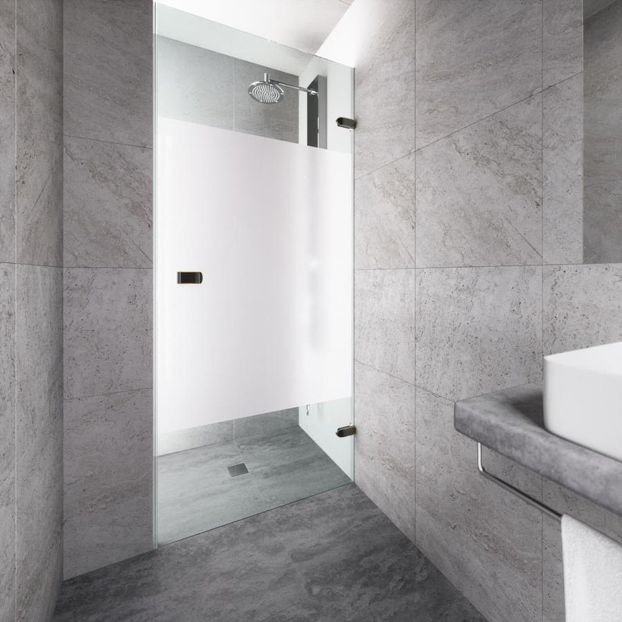 VIGO Tempo 28-in to 28.5-in Frameless Hinged Shower Door