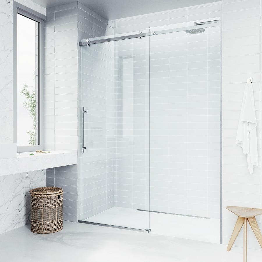 VIGO Luca 56-in to 60-in W x 78.75-in H Frameless Sliding Shower Door