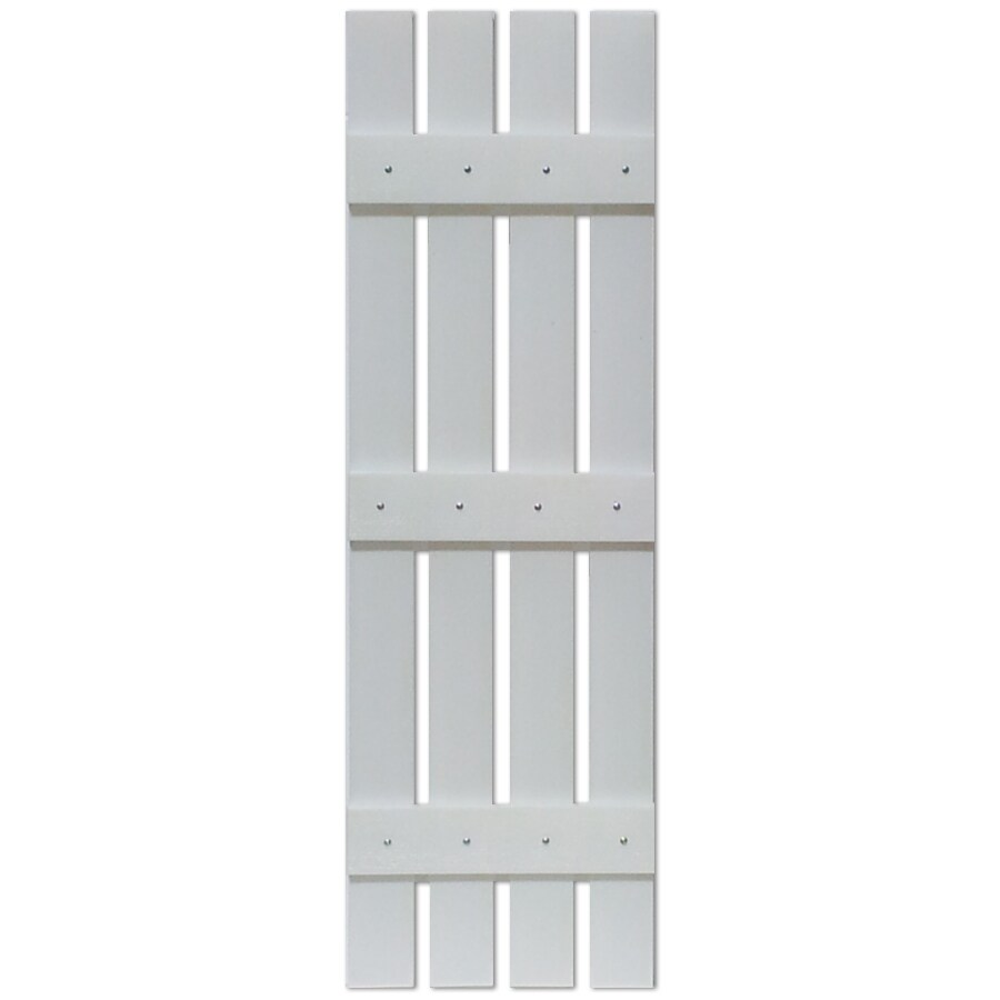 Custom Shutters llc. 2-Pack Paintable Board and Batten Vinyl Exterior Shutters (Common: 16-in x 47-in; Actual: 16-in x 47-in)