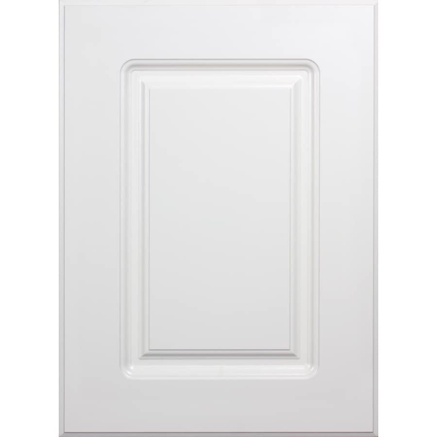 Shop surfaces bennett 15 in x 11 in white composite square for Kitchen cabinet doors