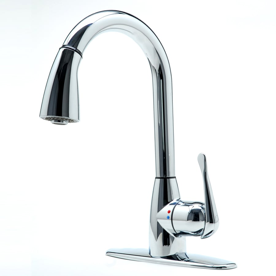 cleanFLO Andromeda Chrome 1-Handle Pull-Down Kitchen Faucet