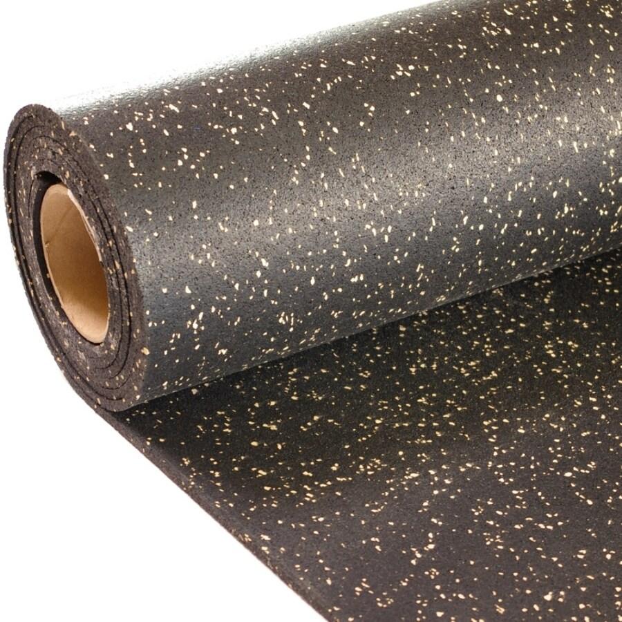 NuTek 48-in x 120-in Black with 10% Tan Flecks Loose Lay Rubber Sheet