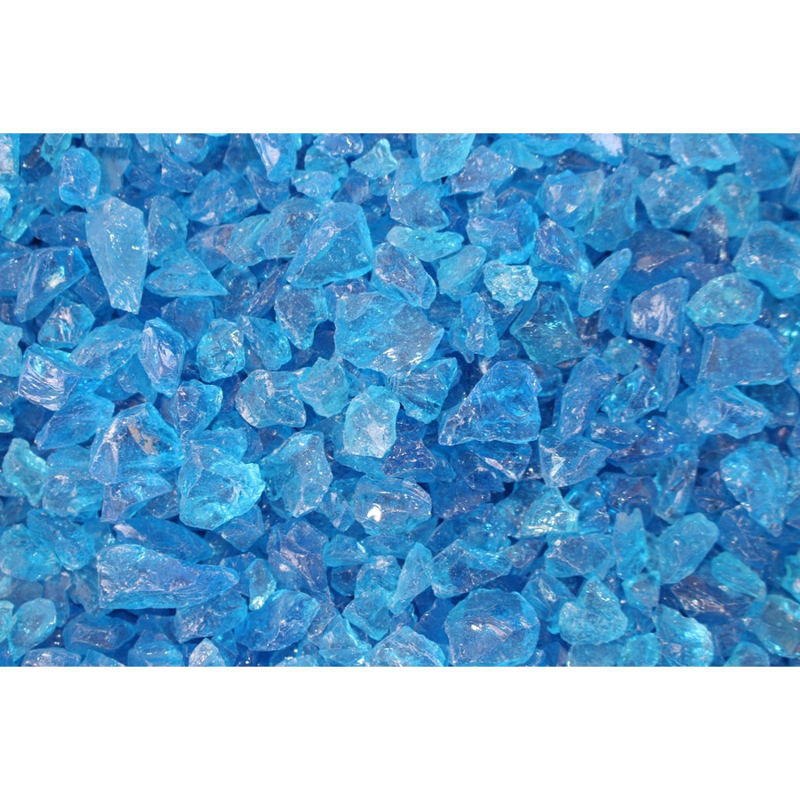 Exotic Glass 25-lb Turquoise Fire Glass (Small)