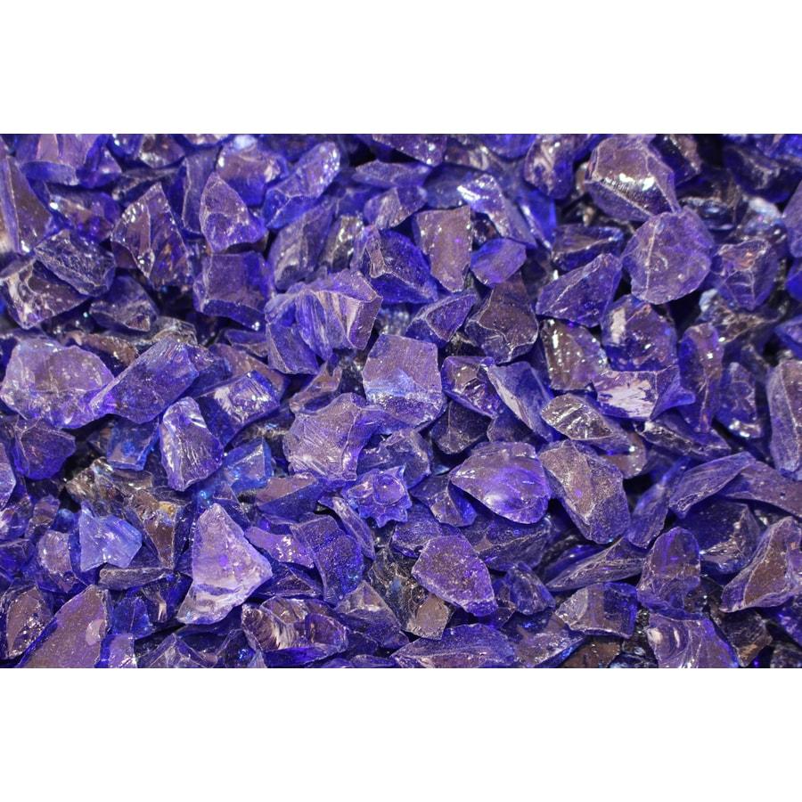 Exotic Glass 25-lb Cobalt Blue Fire Glass (Small)