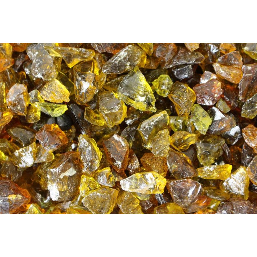Exotic Glass 25-lb Chestnut Fire Glass (Medium)