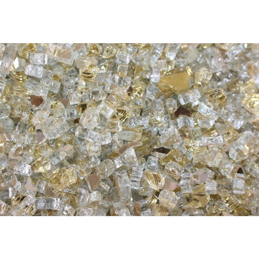 Exotic Glass 25-lb Gold Reflective Fire Glass