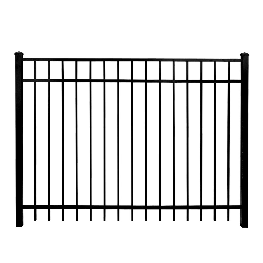 Whiting Iron DIY Panels Powder-Coated Steel Semi-Privacy Decorative Fence Gate (Common: 4-ft x 6-ft; Actual: 3.66-ft x 5.66-ft)