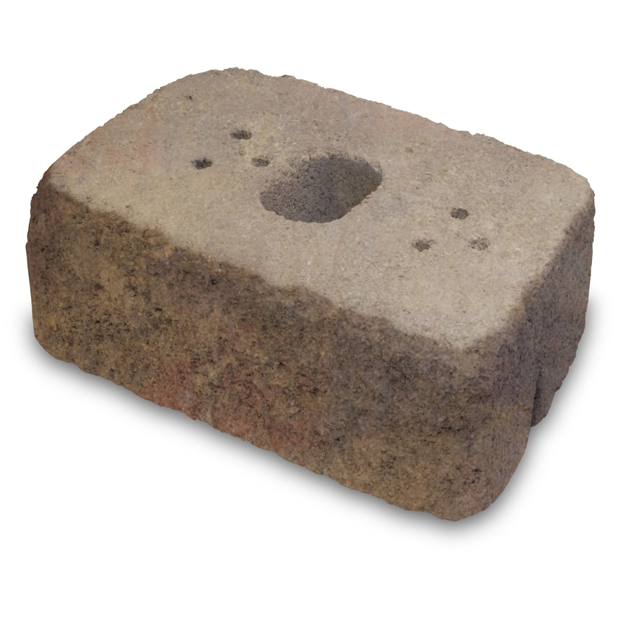 Sonoma Straight Tumbled Concrete Retaining Wall Block (Common: 16-in x 6-in; Actual: 16-in x 6-in)