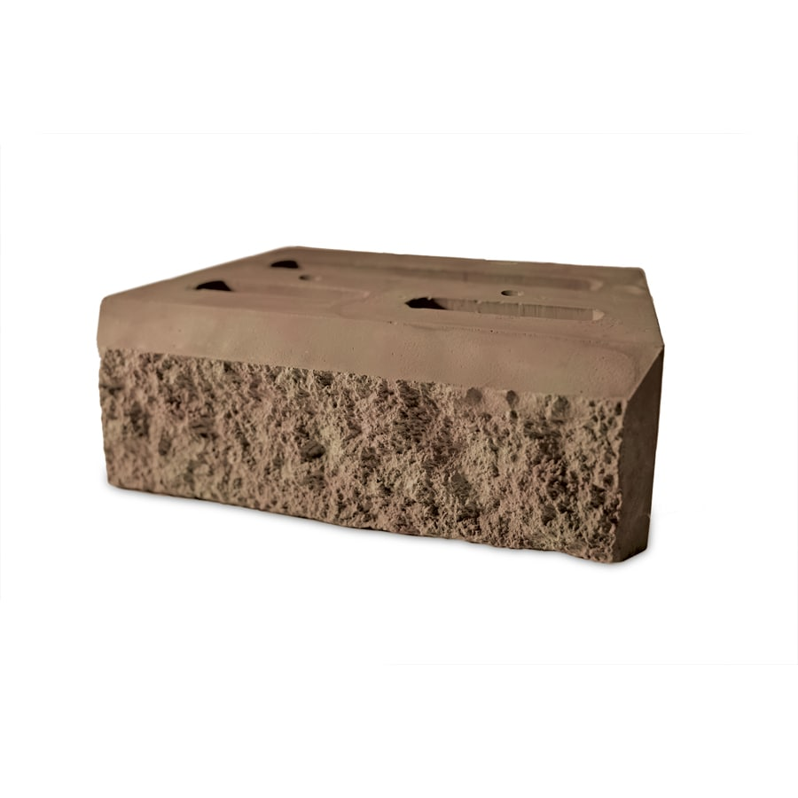 Tan/Charcoal Beveled Concrete Retaining Wall Block (Common: 12-in x 4-in; Actual: 12-in x 4-in)