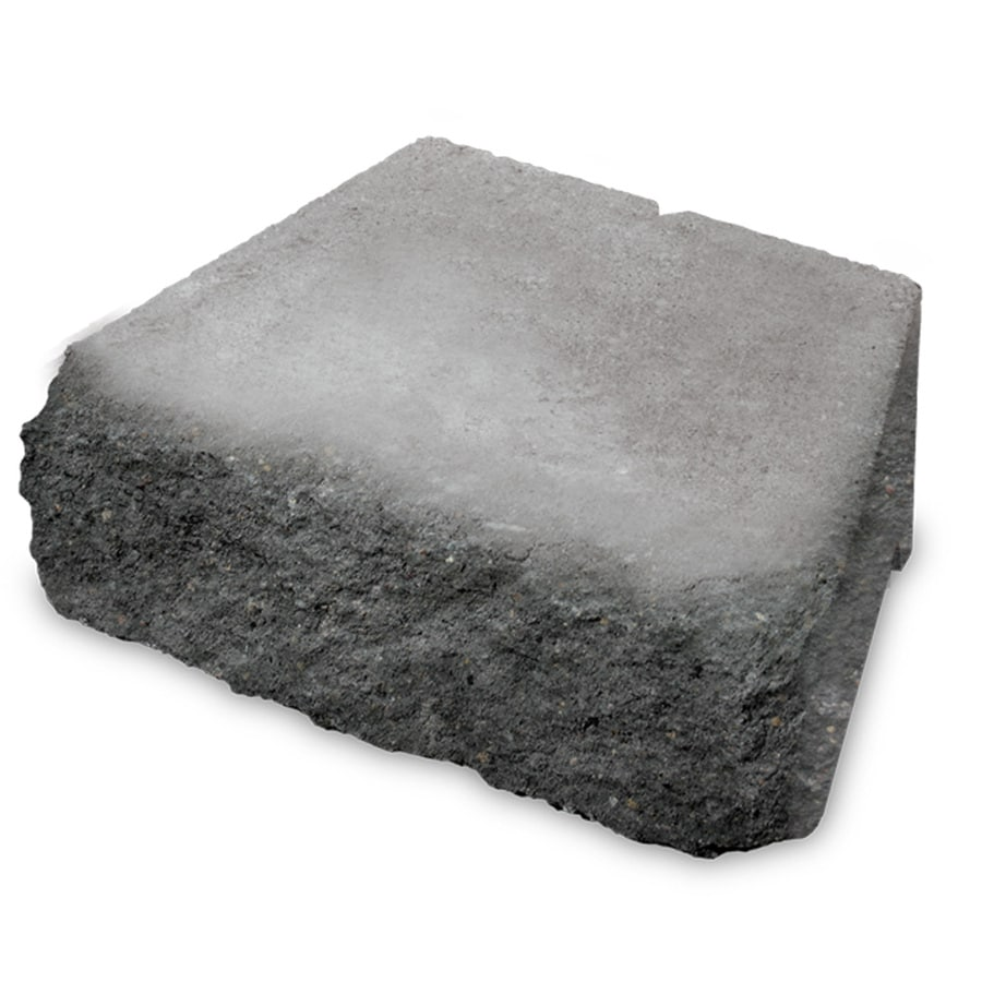 Gray/Charcoal Chiseled Concrete Retaining Wall Block (Common: 12-in x 4-in; Actual: 11.7-in x 4-in)