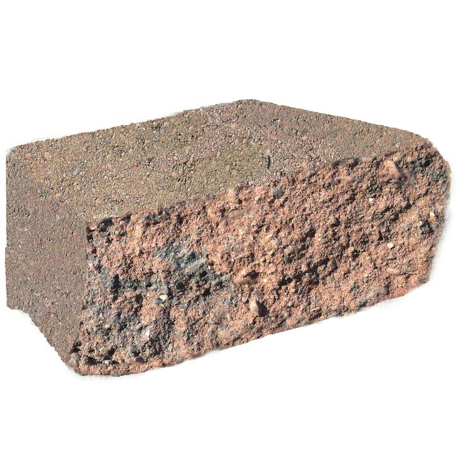 Red/Charcoal Chiseled Concrete Retaining Wall Block (Common: 12-in x 4-in; Actual: 11.7-in x 4-in)