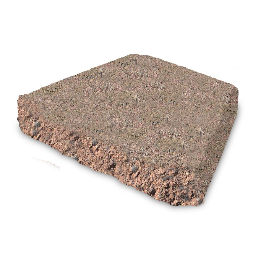 Red/Charcoal Chiseled Concrete Retaining Wall Cap (Common: 12-in x 2-in; Actual: 11.5-in x 2.5-in)