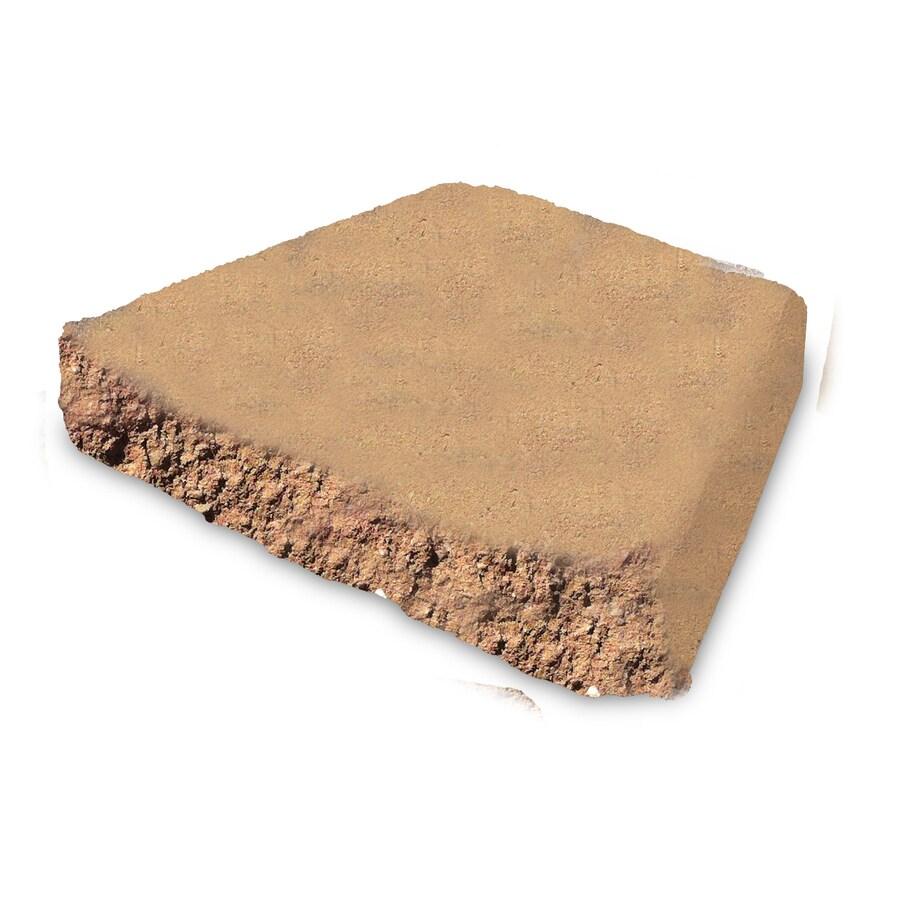 Terra Cotta Block : Shop terra cotta chiseled concrete retaining wall cap