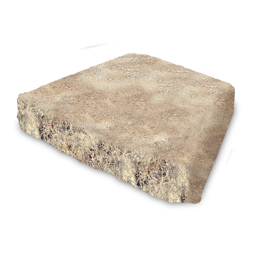 Tan/Brown Chiseled Concrete Retaining Wall Cap (Common: 12-in x 2-in; Actual: 11.5-in x 2.5-in)