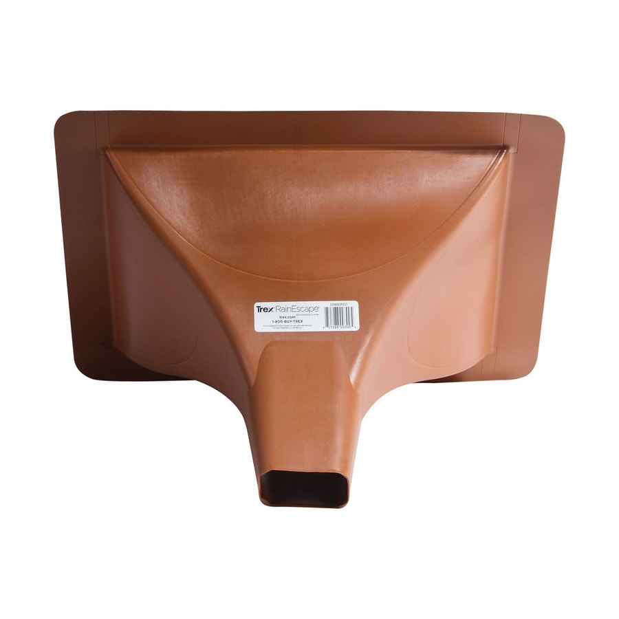 Trex RainEscape Brown Plastic Deck Downspout (Actual: 17.5-in x 10.75-in x 17.5-in)