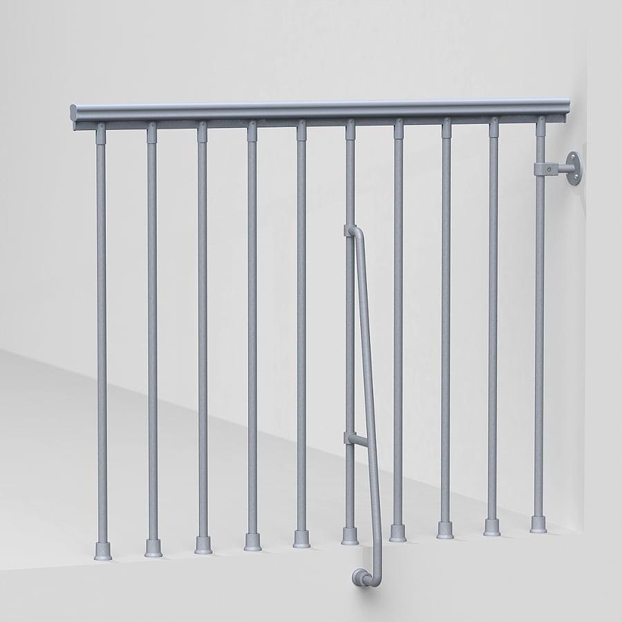 Arke Eureka 3.9-ft Gray Painted Steel Stair Railing Kit