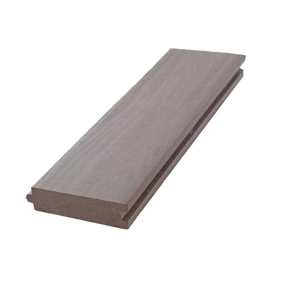 Aeratis Weathered Wood PVC Porch Flooring (Common: 1-in x 4-in x 16-ft; Actual: 0.875-in x 3.125-in x 16-ft)