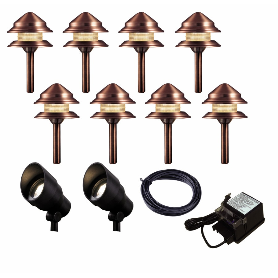 Portfolio Antique Copper Path Light Kit