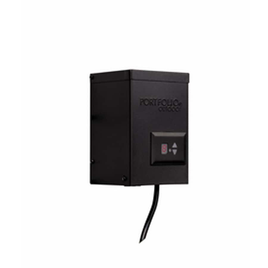 Portfolio 200-Watt Landscape Lighting Transformer with Digital Timer with Dusk-to-Dawn Sensor