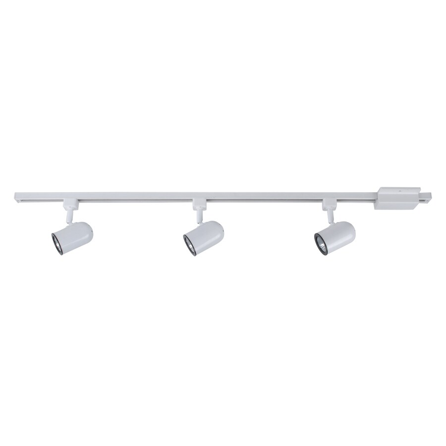 Project Source 3-Light 42-in White Roundback Linear Track Lighting Kit