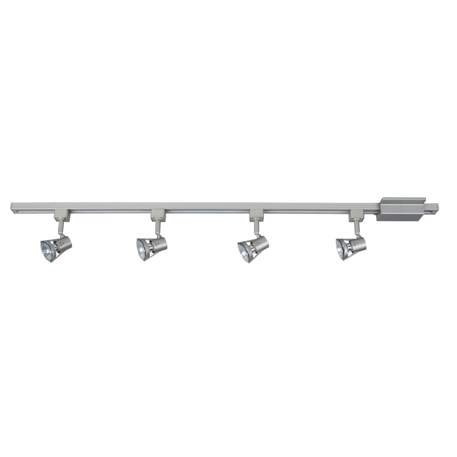 Project Source 4-Light 42-in Nickel Gimbal Linear Track Lighting Kit