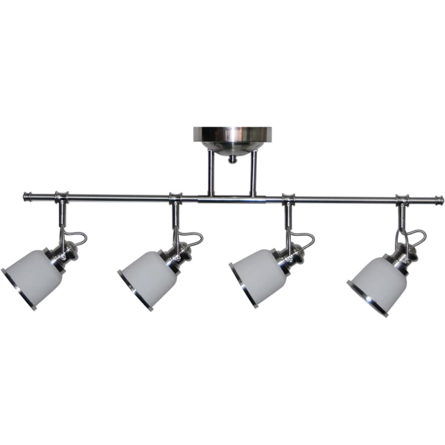 allen + roth Northroe 4-Light 31.5-in Brushed Nickel LED Fixed Track Light Kit