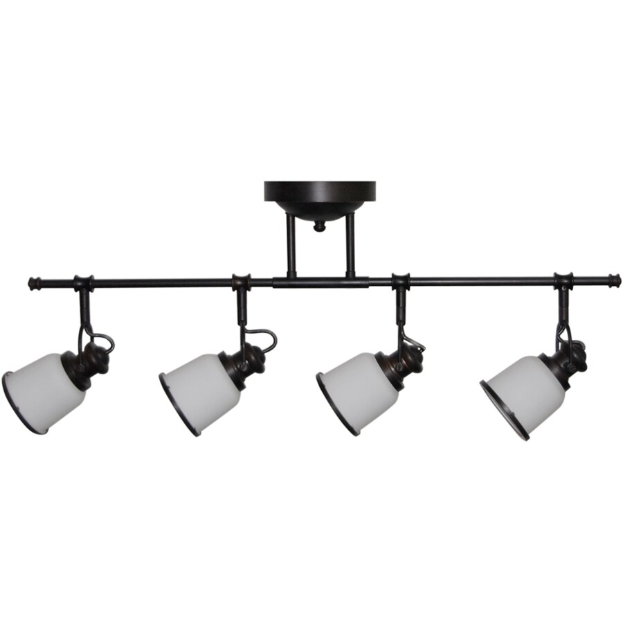 light 31 5 in oil rubbed bronze led fixed track light kit at. Black Bedroom Furniture Sets. Home Design Ideas