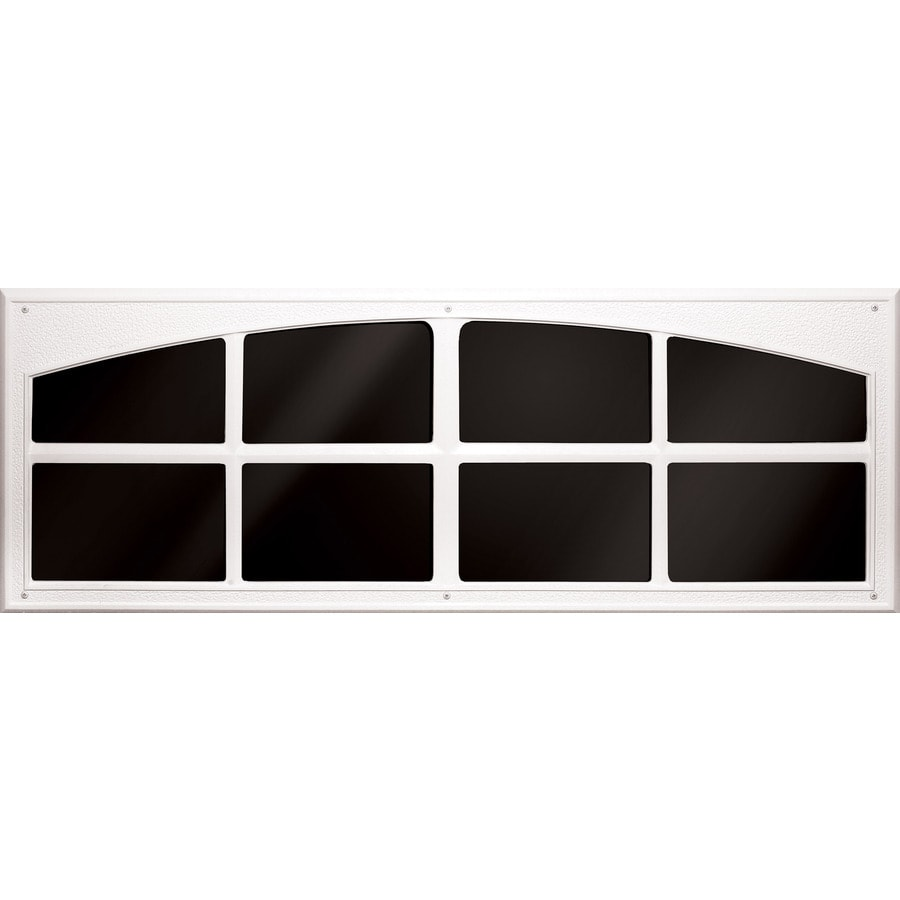 Coach House Accents 2-Pack 45.5-in White Mold-In-Color Plastic Garage Door Simulated Window
