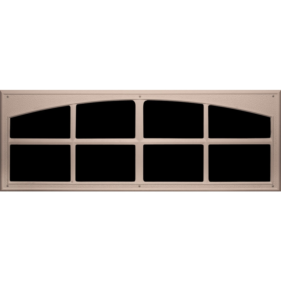 Coach House Accents 2-Pack 45.5-in Sandstone Mold-In-Color Plastic Garage Door Simulated Window