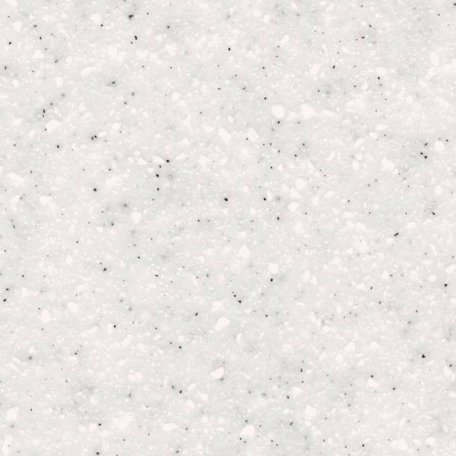 Shop lg hi macs white quartz solid surface kitchen countertop sample at - Corian of quartz ...