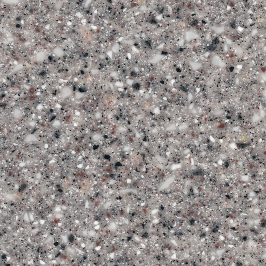 Shop LG HI-MACS Gray Granite Solid Surface Kitchen Countertop Sample ...