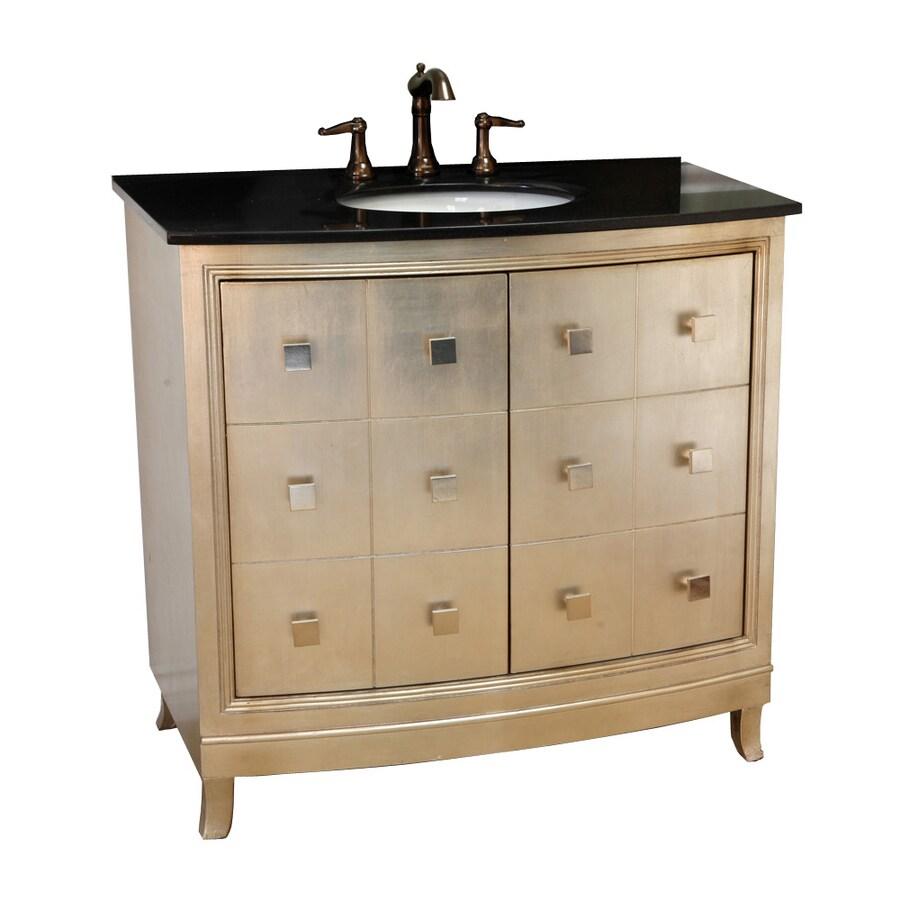 Bellaterra Home Silver Undermount Single Sink Birch Bathroom Vanity with Granite Top (Common: 36-in x 22-in; Actual: 36-in x 22-in)