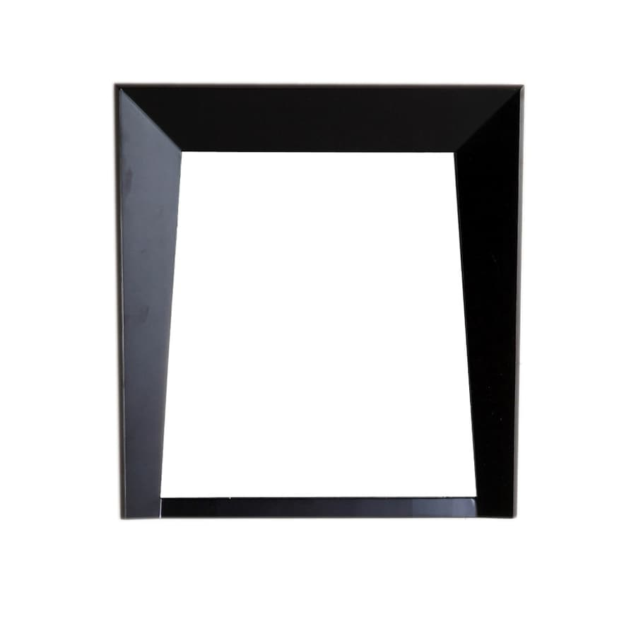 Bellaterra Home 24-in W x 25.5-in H Dark Espresso Square Bathroom Mirror