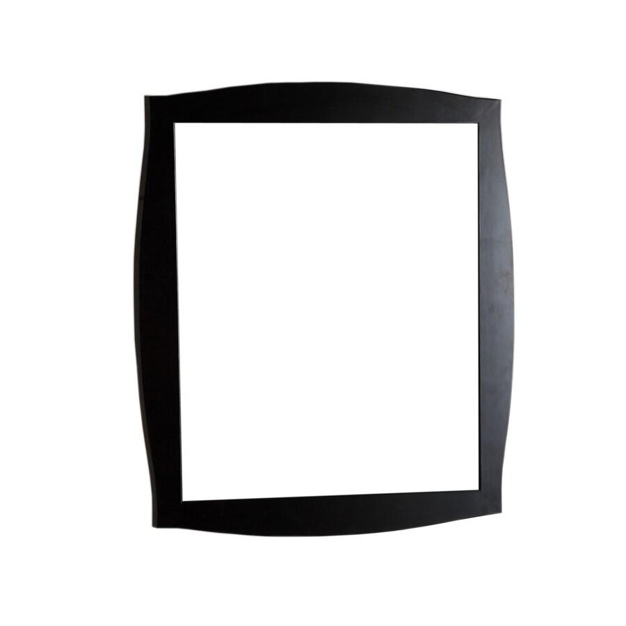 Bellaterra Home 35.5-in W x 31.5-in H Dark Espresso Rectangular Bathroom Mirror