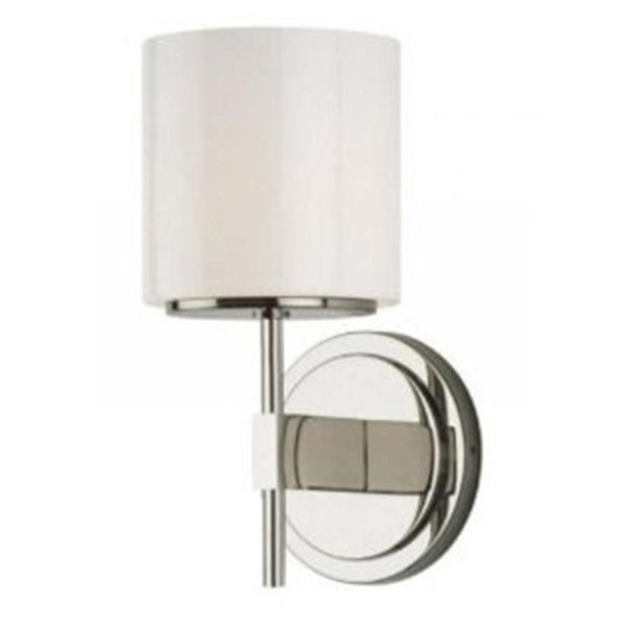 Stone 22.5-in W 1-Light Satin Nickel Arm Hardwired Wall Sconce
