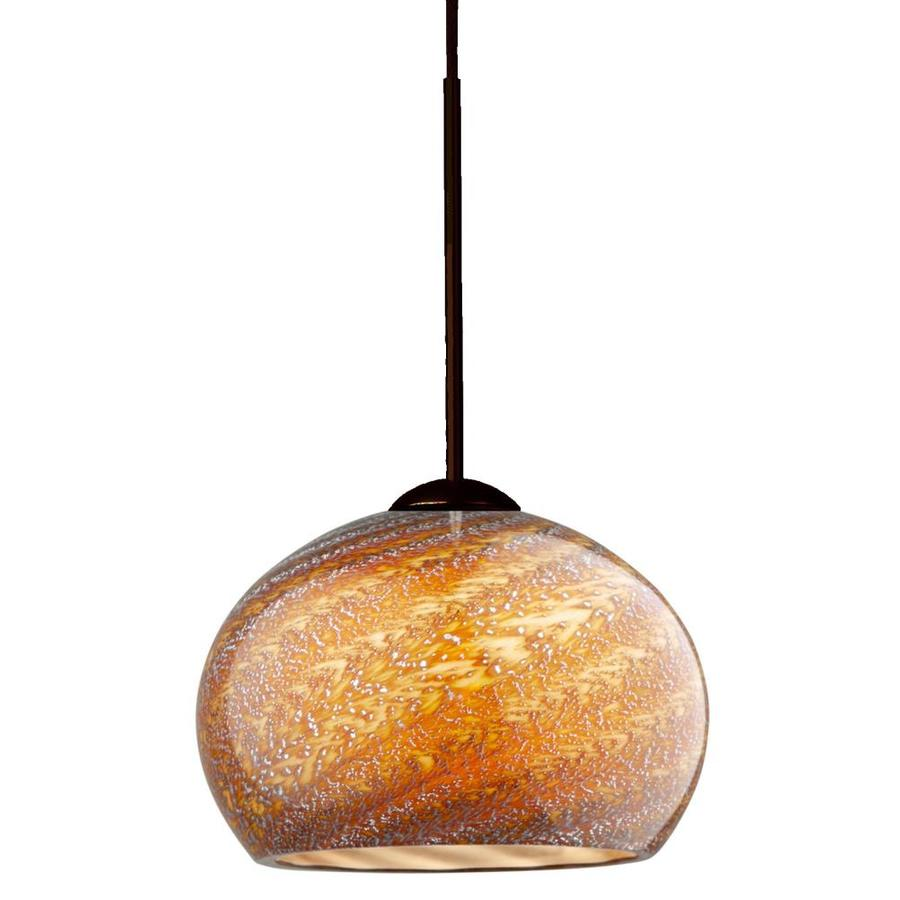 Stone 13.5-in Bronze Single Crystal Pendant