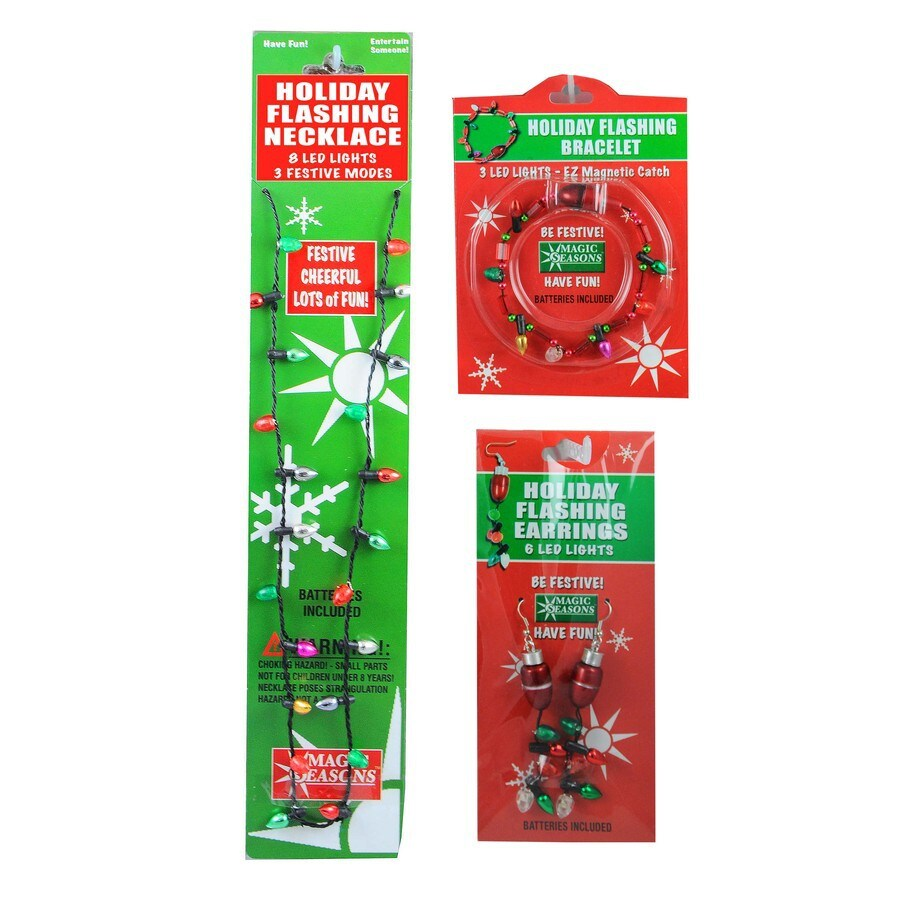 Magic Seasons Assorted Lighted Christmas Jewelry