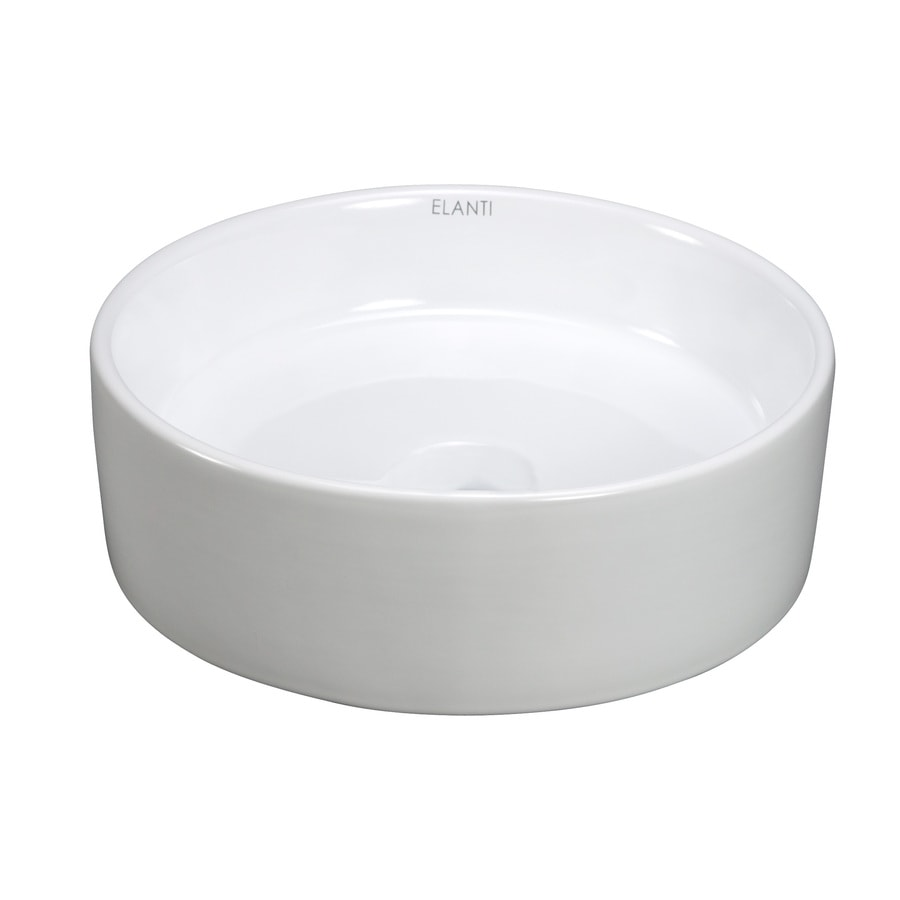 Round Bathroom Sink Bowls : Shop Elanti White Vessel Round Bathroom Sink at Lowes.com