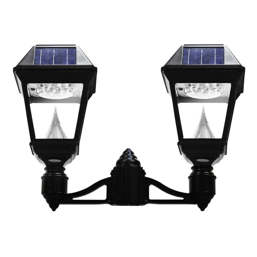 gama sonic imperial 2 22 in h black solar led post light at. Black Bedroom Furniture Sets. Home Design Ideas