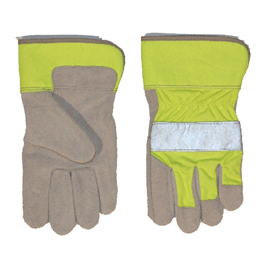 Blue Hawk One-Size-Fits-All Men's Leather Palm Work Gloves