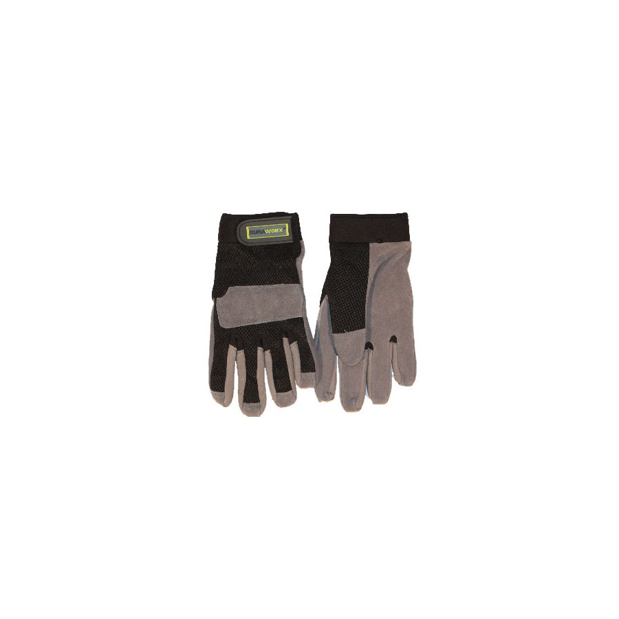 Blue Hawk Large Men's Leather Palm High Performance Gloves