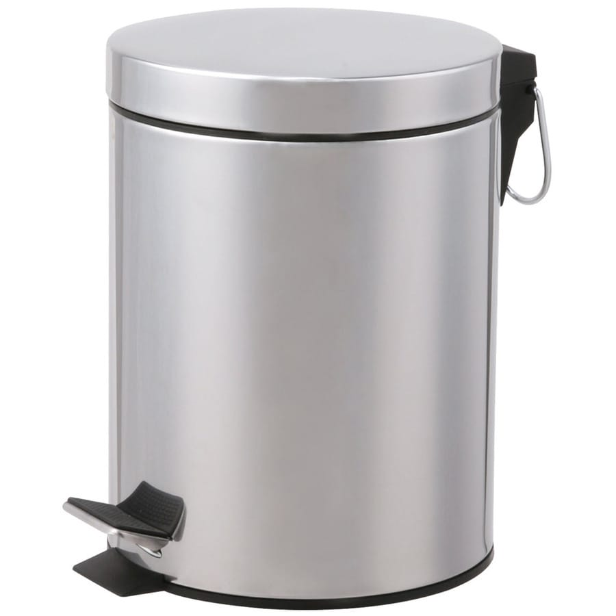 Designers Choice 5-Liter Polished Steel Touchless Trash Can with Lid