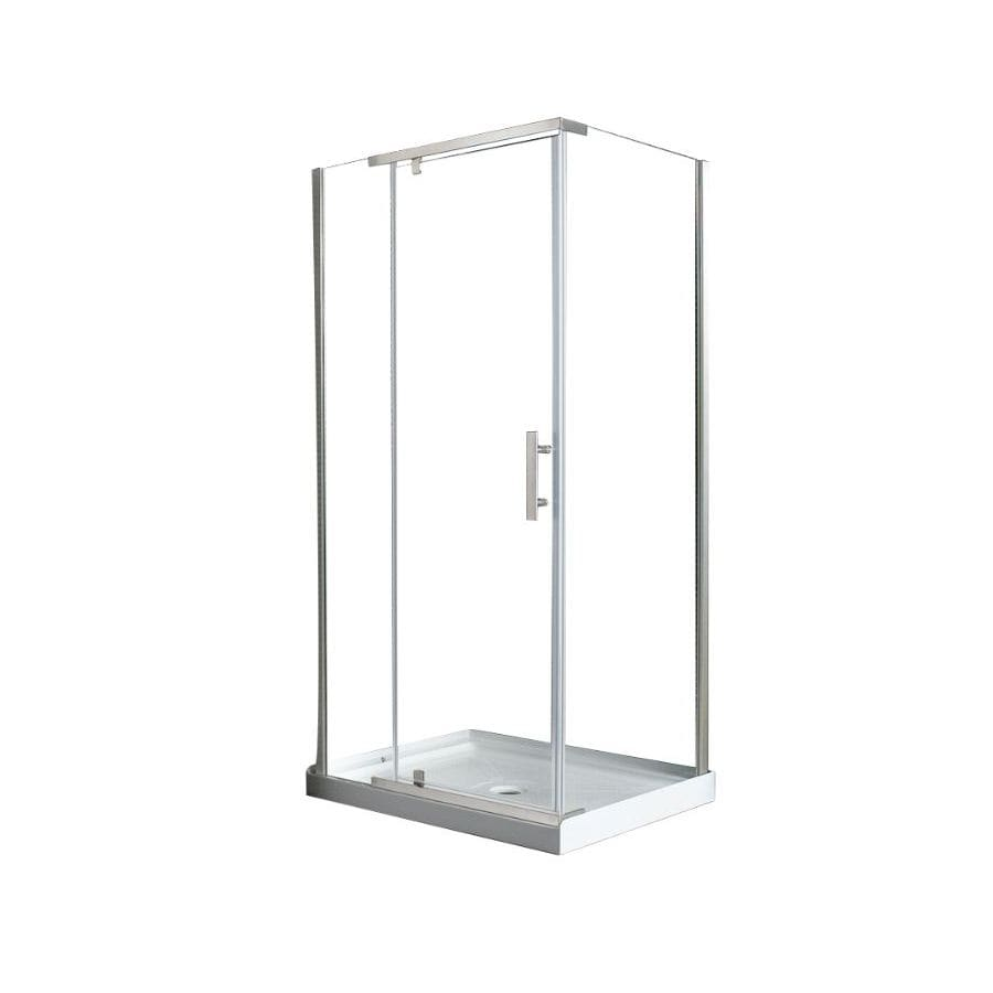 Ove Decors 40-in Frameless Pivot Shower Door