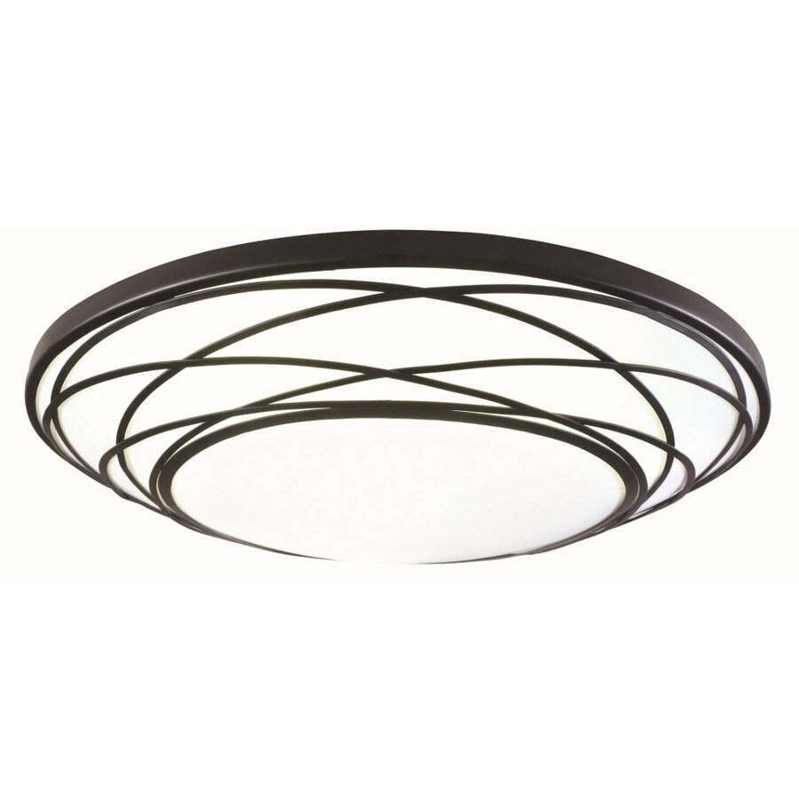 allen + roth 19.33-in W White Ceiling Flush Mount Light
